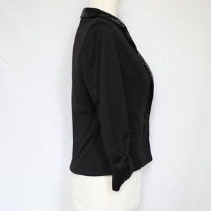 Moon Collection Jackets & Coats - Moon Collection Black Sequin Cropped Blazer Medium